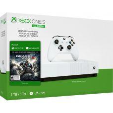 Microsoft Xbox One S 1Tb White All-Digital Edition + Gears of War 4 (ваучер на скачивание) (русская версия)