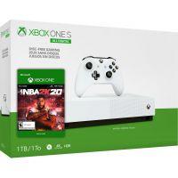 Microsoft Xbox One S 1Tb White All-Digital Edition + NBA 2K20 (ваучер на скачивание)