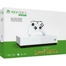 Microsoft Xbox One S 1Tb White All-Digital Edition + Sea of Thieves (ваучер на скачивание) (русская версия)