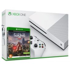 Microsoft Xbox One S 1Tb White + Halo Wars 2 (русская версия)