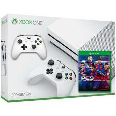 Microsoft Xbox One S 500Gb White + PES 2018 (русская версия) + доп. Wireless Controller with Bluetooth (White)