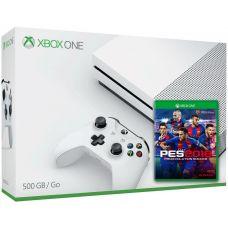 Microsoft Xbox One S 500Gb White + PES 2018 (русская версия)