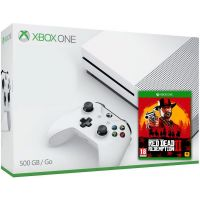 Microsoft Xbox One S 500Gb White + Red Dead Redemption 2 (русская версия)