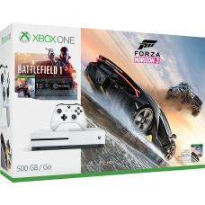 Microsoft Xbox One S 500Gb White + Battlefield 1 (русская версия) + Forza Horizon 3 (русская версия)
