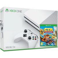 Microsoft Xbox One S 500Gb White + Crash Team Racing Nitro-Fueled (английская версия)