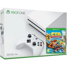 Microsoft Xbox One S 500Gb White + Crash Team Racing Nitro-Fueled (английская версия)