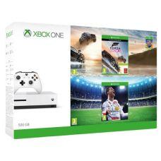 Microsoft Xbox One S 500Gb White + FIFA 18 (русская версия) + Forza Horizon 3 (русская версия) + Hot Wheels (русская версия) + Xbox Live Gold (6 месяцев)