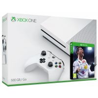 Microsoft Xbox One S 500Gb White + FIFA 18 (русская версия)