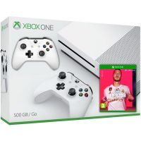 Microsoft Xbox One S 500Gb White + FIFA 20 (русская версия) + доп. Wireless Controller with Bluetooth (White)