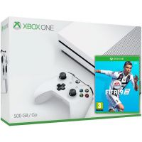 Microsoft Xbox One S 500Gb White + FIFA 19 (русская версия)