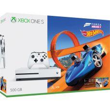 Microsoft Xbox One S 500Gb White + Forza Horizon 3 (русская версия) + Hot Wheels (русская версия)