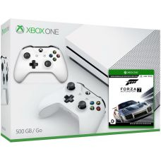 Microsoft Xbox One S 500Gb White + Forza Motorsport 7 (русская версия) + доп. Wireless Controller with Bluetooth (White)