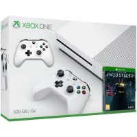 Microsoft Xbox One S 500Gb White + Injustice 2 (русская версия) + доп. Wireless Controller with Bluetooth (White)