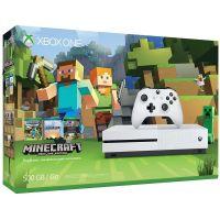 Microsoft Xbox One S 500Gb White + Minecraft (русская версия)