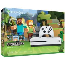 Microsoft Xbox One S 500Gb White + Minecraft (русская версия)