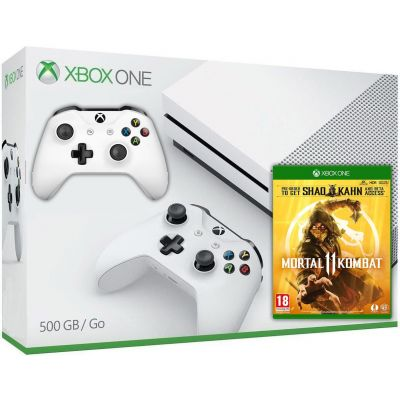 Microsoft Xbox One S 500Gb White + Mortal Kombat 11 (русская версия) + доп. Wireless Controller with Bluetooth (White)