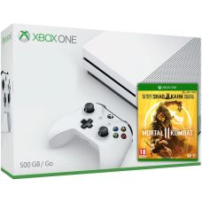 Microsoft Xbox One S 500Gb White + Mortal Kombat 11 (русская версия)