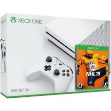 Microsoft Xbox One S 500Gb White + NHL 19 (русская версия)