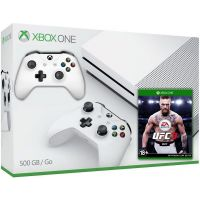 Microsoft Xbox One S 500Gb White + UFC 3 (русская версия) + доп. Wireless Controller with Bluetooth (White)