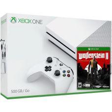 Microsoft Xbox One S 500Gb White + Wolfenstein II: The New Colossus (русская версия)