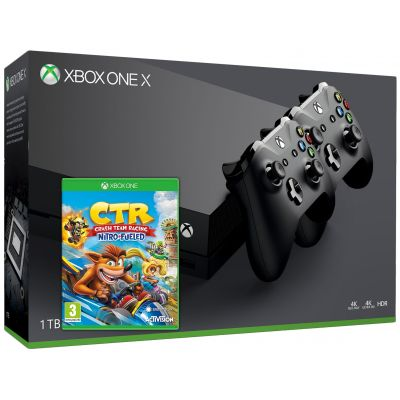Microsoft Xbox One X 1Tb + Crash Team Racing Nitro-Fueled (английская версия) + доп. Wireless Controller with Bluetooth (Black)