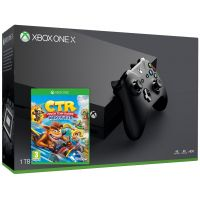 Microsoft Xbox One X 1Tb + Crash Team Racing Nitro-Fueled (английская версия)