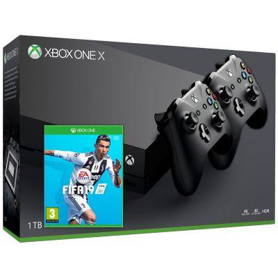 Microsoft Xbox One X 1Tb + FIFA 19 (русская версия) + доп. Wireless Controller with Bluetooth (Black)