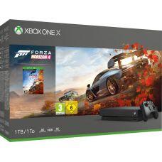 Microsoft Xbox One X 1Tb + Forza Horizon 4 (ваучер на скачивание) (русская версия)