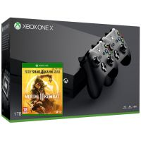 Microsoft Xbox One X 1Tb + Mortal Kombat 11 Special Edition (русская версия) + доп. Wireless Controller with Bluetooth (Black)