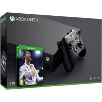 Microsoft Xbox One X 1Tb + FIFA 18 (русская версия)