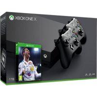 Microsoft Xbox One X 1Tb + FIFA 18 (русская версия) + доп. Wireless Controller with Bluetooth (Black)