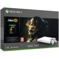 Microsoft Xbox One X Robot White Special Edition 1Tb + Fallout 76 (русская версия)