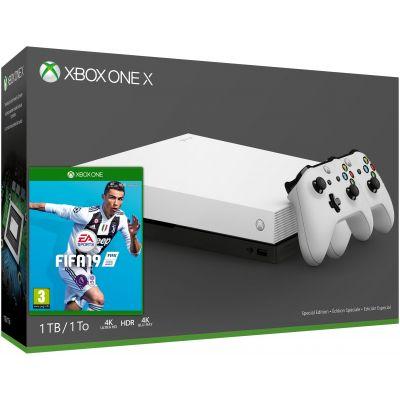 Microsoft Xbox One X 1Tb Robot White Special Edition + Mortal Kombat 11 (русская версия) + доп. Wireless Controller with Bluetooth (White)