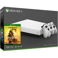 Microsoft Xbox One X 1Tb Robot White Special Edition + Mortal Kombat 11 (русская версия) + доп. Wireless Controller with Bluetooth (White)