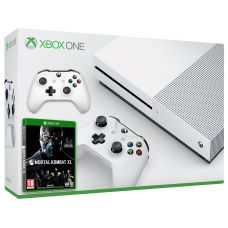 Microsoft Xbox One S 500Gb White + Mortal Kombat XL (русская версия) + доп. Wireless Controller with Bluetooth (White)