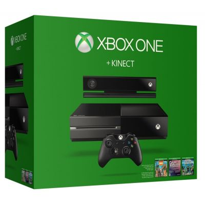 Microsoft Xbox One 500Gb + Kinect + Kinect Sports Rivals + Dance Central + Zoo Tycoon