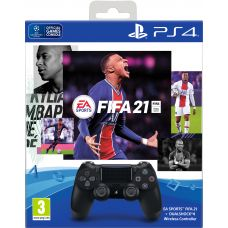 FIFA 21 (русская версия) (PS4) + Sony DualShock 4 Version 2 (black) (9835325)