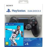 FIFA 19 (русская версия) (PS4) + Sony DualShock 4 Version 2 (black)