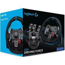 Комплект 3 в 1 Руль и педали Logitech G29 Driving Force Racing Wheel (941-000112) + Рычаг переключения передач Logitech G Driving Force Shifter (941-000119, 941-000130)