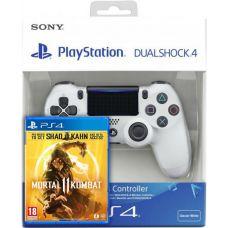 Mortal Kombat 11 (русская версия) (PS4) + Sony DualShock 4 Version 2 (white)