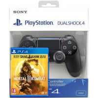 Mortal Kombat 11 (русская версия) (PS4) + Sony DualShock 4 Version 2 (black)