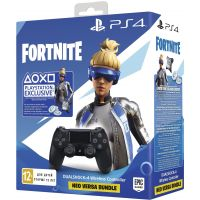 Sony DualShock 4 Version 2 (Black) + Fortnite Neo Versa (дополнения)