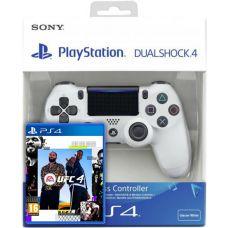 UFC 4 (русская версия) (PS4) + Sony DualShock 4 Version 2 (white)