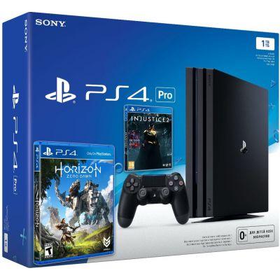 Sony Playstation 4 PRO 1Tb + Injustice 2 (русская версия) + Horizon Zero Dawn (русская версия)