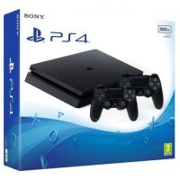 Sony Playstation 4 Slim 500Gb + DualShock 4 (Version 2) (black)