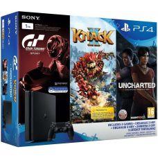 Sony Playstation 4 Slim 1Tb + Gran Turismo Sport + Knack 2 + Uncharted: Утраченное наследие (русская версия)