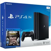 Sony Playstation 4 PRO 1Tb + Call of Duty: WWII (русская версия)