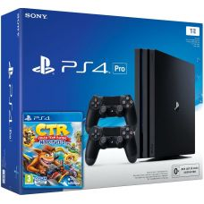 Sony Playstation 4 PRO 1Tb + Crash Team Racing Nitro-Fueled + DualShock 4 (Version 2) (black)