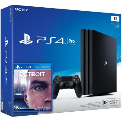 Sony Playstation 4 PRO 1Tb + Detroit: Стать человеком (русская версия)