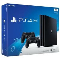Sony Playstation 4 PRO 1Tb + DualShock 4 (Version 2) (black)